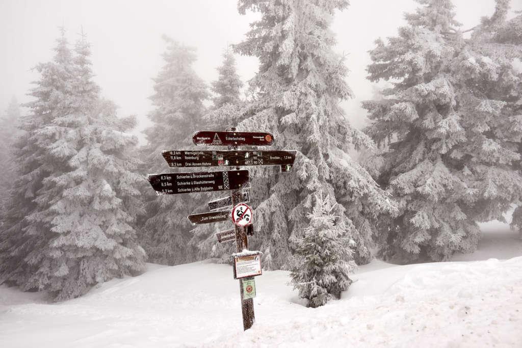 Brocken Nationalpark Harz Wege
