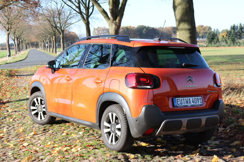 Test Citroen C3 Aircross Shine Heck
